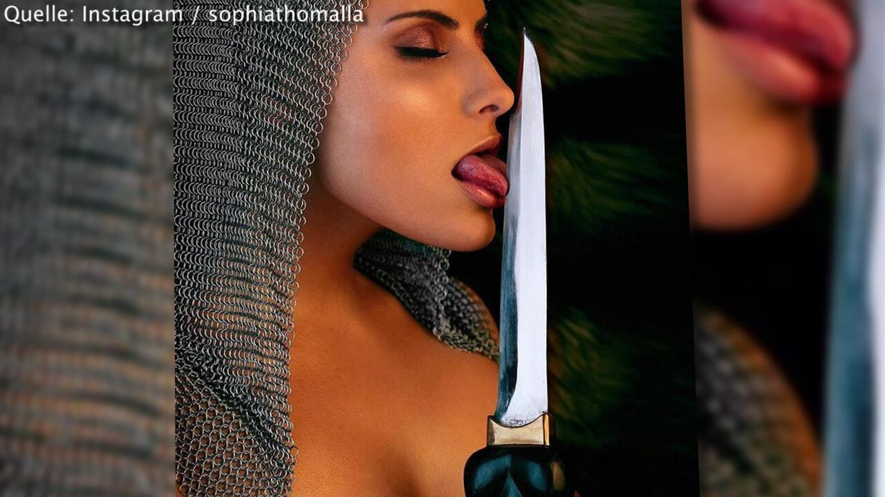 Bild zu Hat Sophia Thomalla wieder heimlich geheiratet?