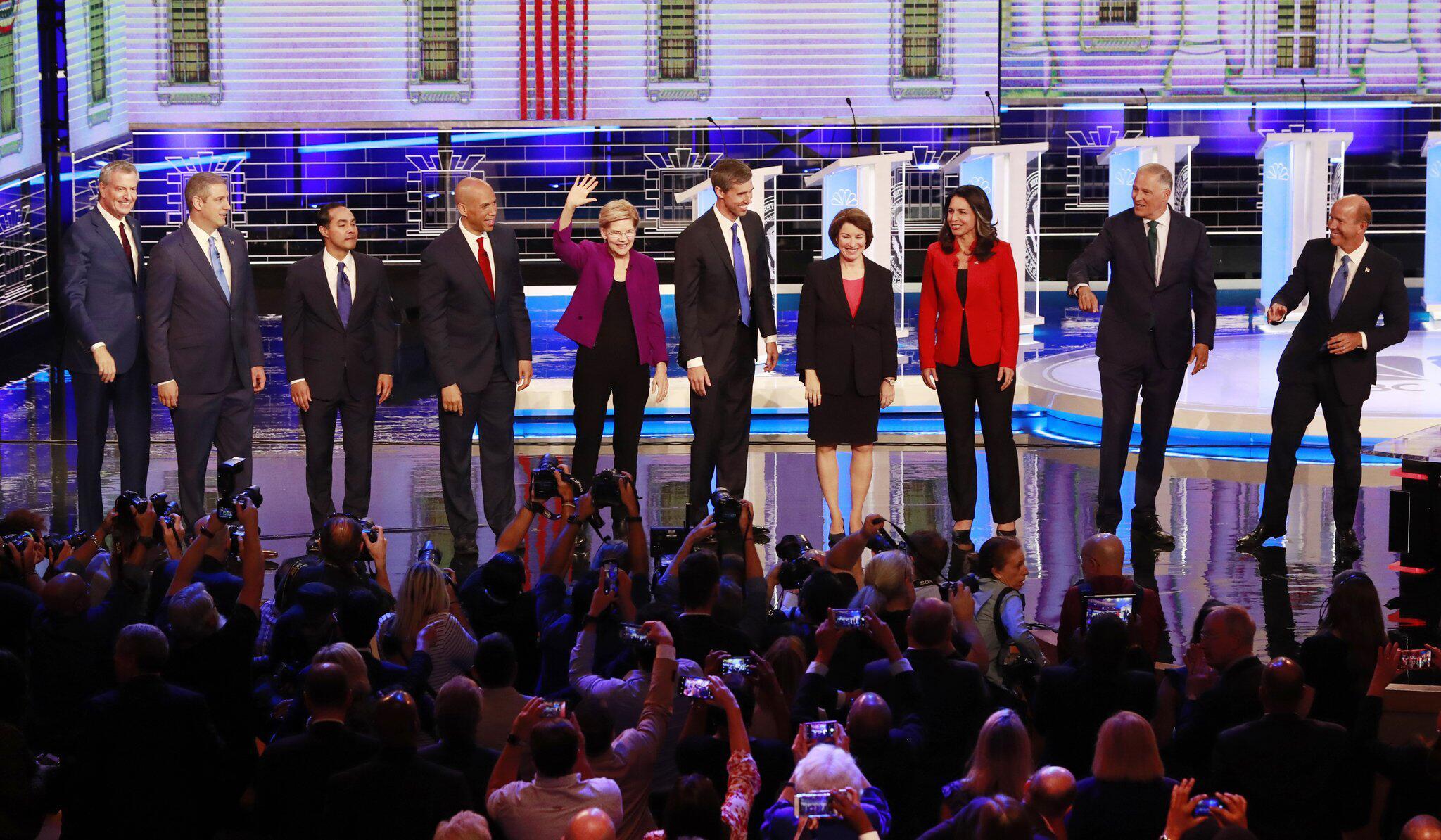 Bild zu Wahlkampf in den USA - TV-Debatte der Demokraten