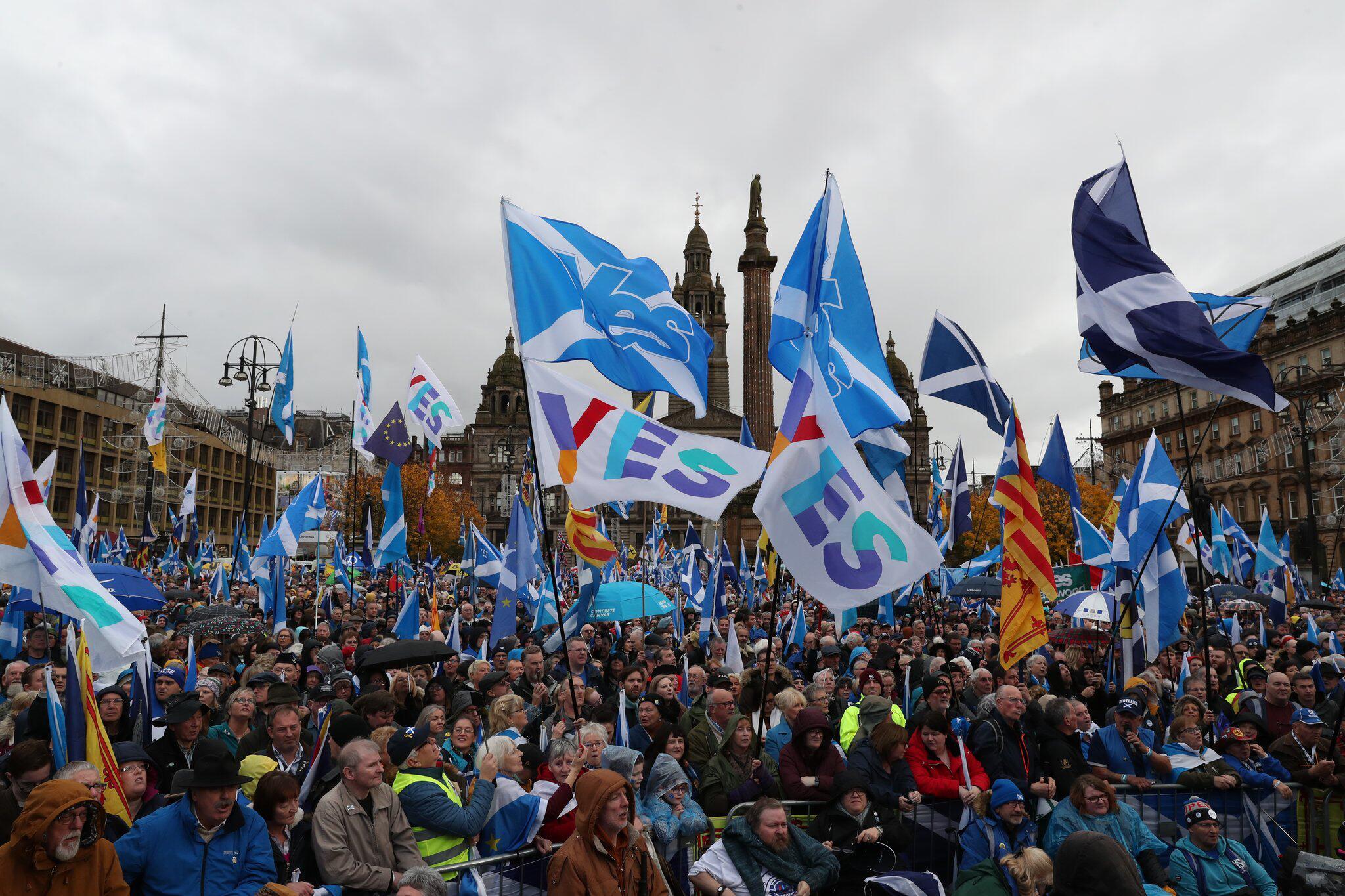 Bild zu Demonstration für Unabhängigkeit in Schottland