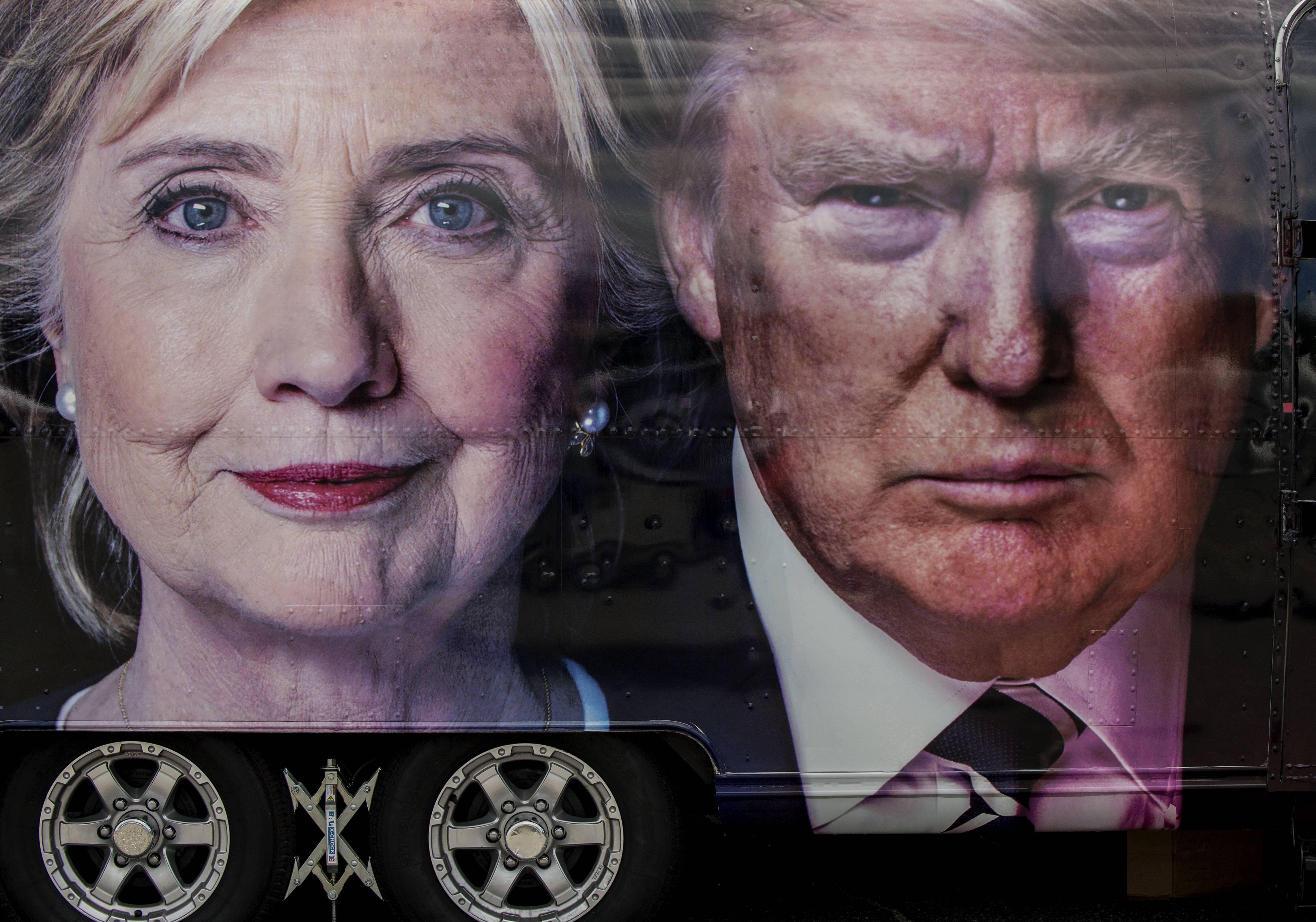 Bild zu Hillary Clinton, Donald trump, US-Wahl 2016