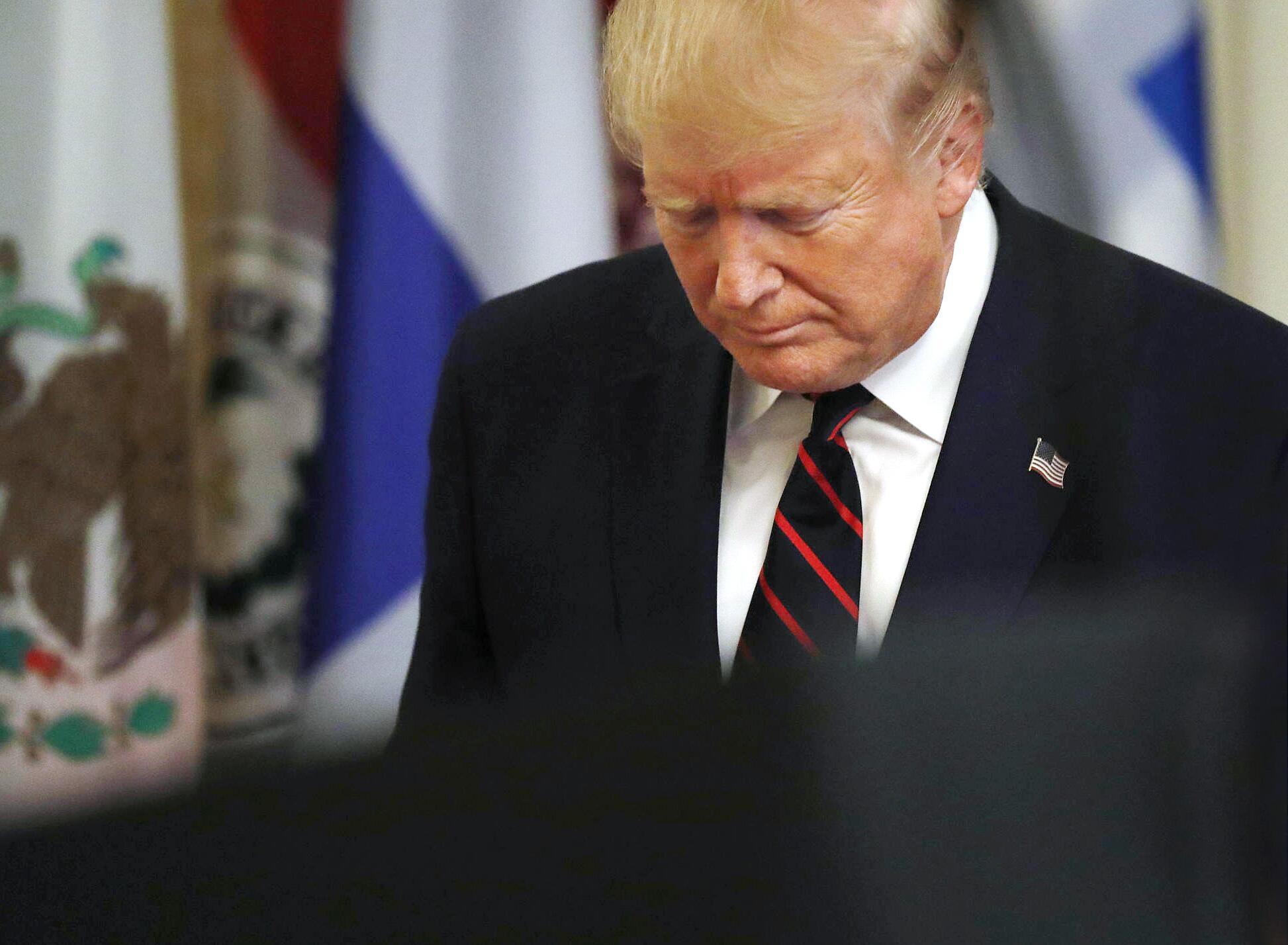 Bild zu US-Präsident Trump trifft Mitglieder der Strafverfolgungsbehörden