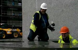 Bauarbeiter Topfschlagen fuer echte Maenner