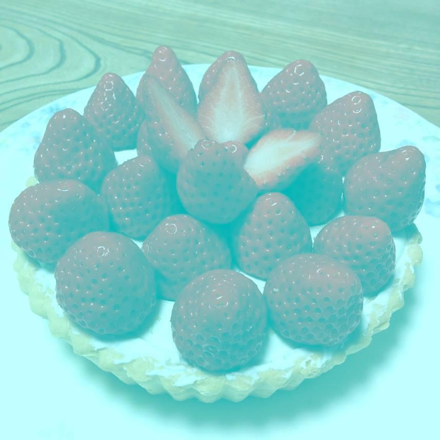 Bild zu Optische Täuschung, rote Erdbeeren
