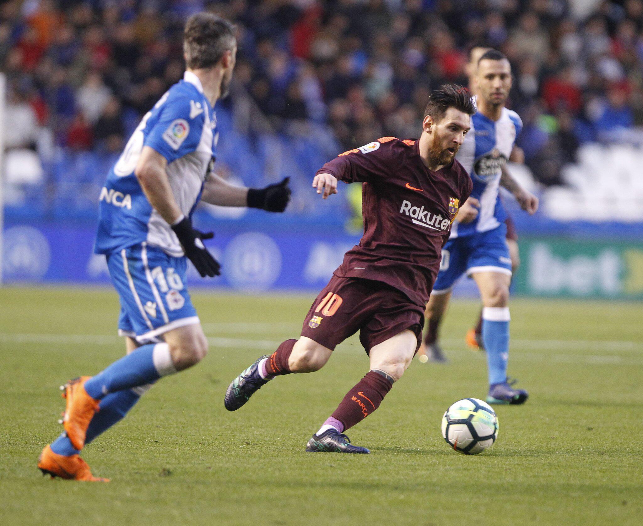 Bild zu Deportivo La Coruna - FC Barcelona, Lionel Messi, Primera Division