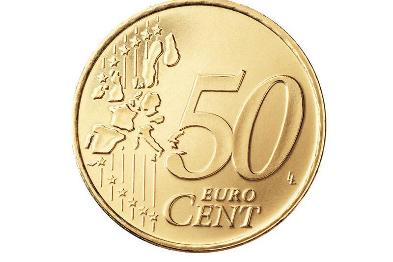 Die Vorderseite der 50-Cent-Münze