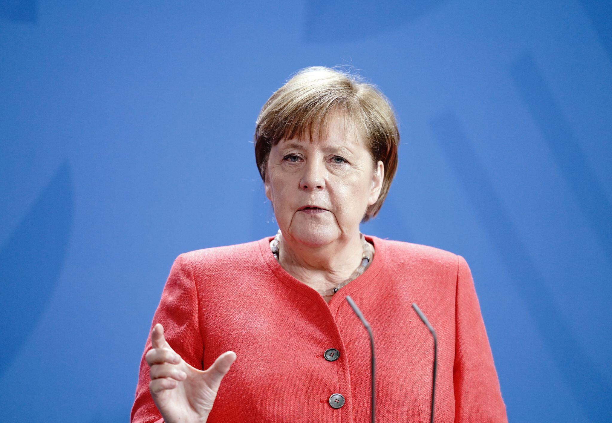Bild zu Pk Merkel nach EU-Videogipfel
