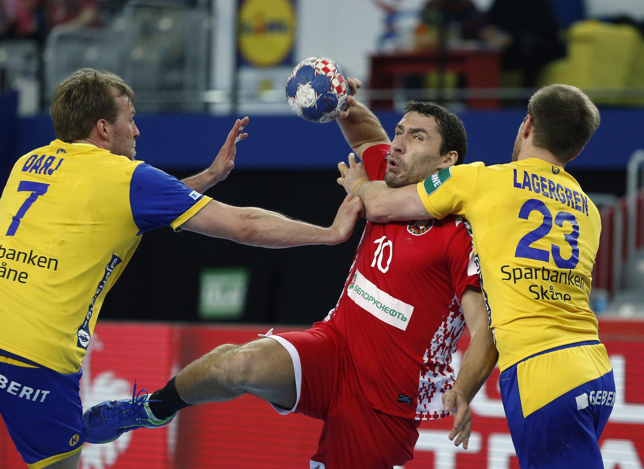 Bild zu Handball-EM: Schweden - Weissrussland