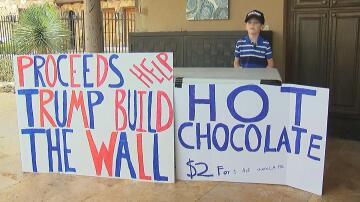 Bild zu Benton Stevens, Donald Trump, Mauer, Mexiko, Junge, Texas, Verkauf, heisse Schokolade, Unterstützung