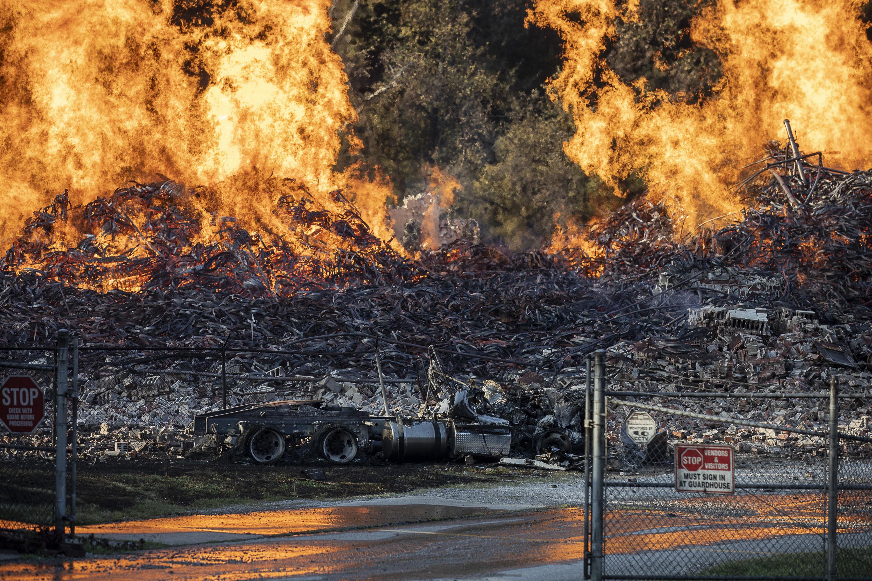 Bild zu Jim Beam, Whiskey, Feuer, Brand, Fässer, Blitz, Blitzeinschlag, USA, Kentucky, Woodford County