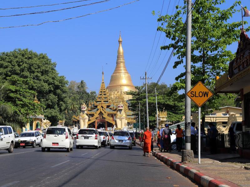 Bild zu Strasse in Rangun