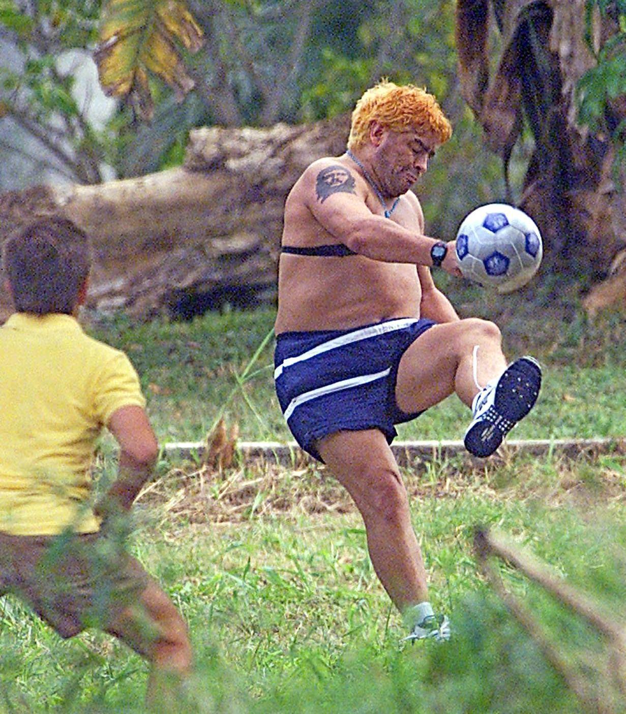 Bild zu Diego Maradona, Rehabilitation, Garten, Fussball, Kuba, Las Praderas