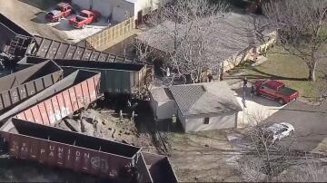 Bild zu Entgleister Güterzug