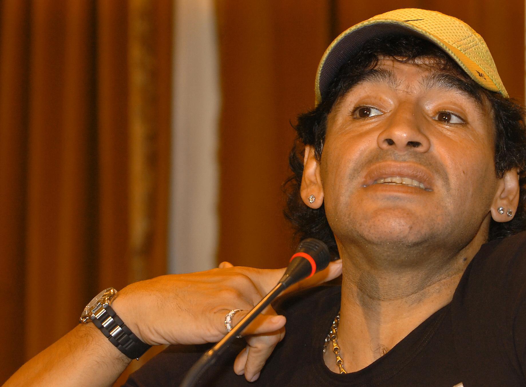 Bild zu Diego Maradona, Pressekonferenz, Buenos Aires, Alejandro Mancuso