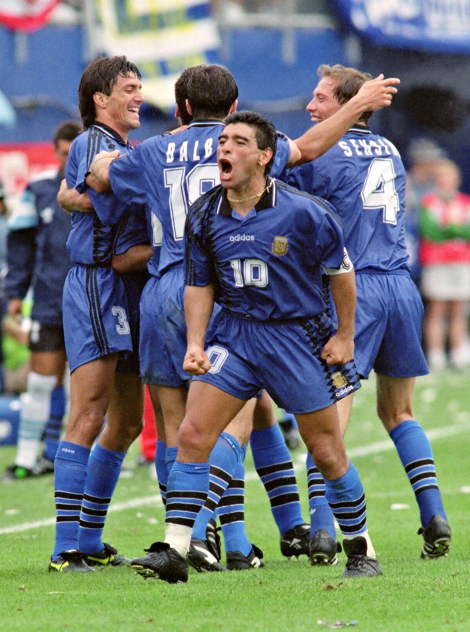 Bild zu Diego Maradona, Argentinien, Griechenland, WM 1994, USA