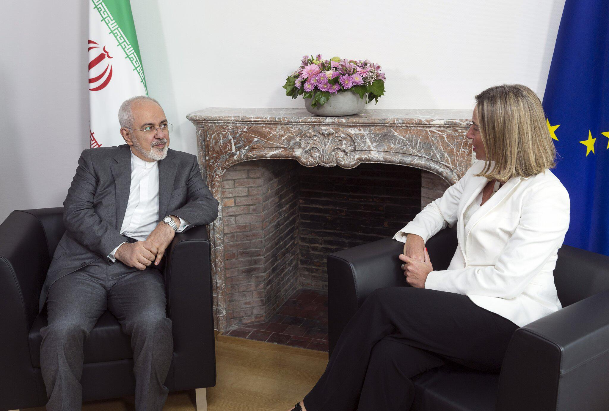 Bild zu Iranischer Aussenminister in Brüssel