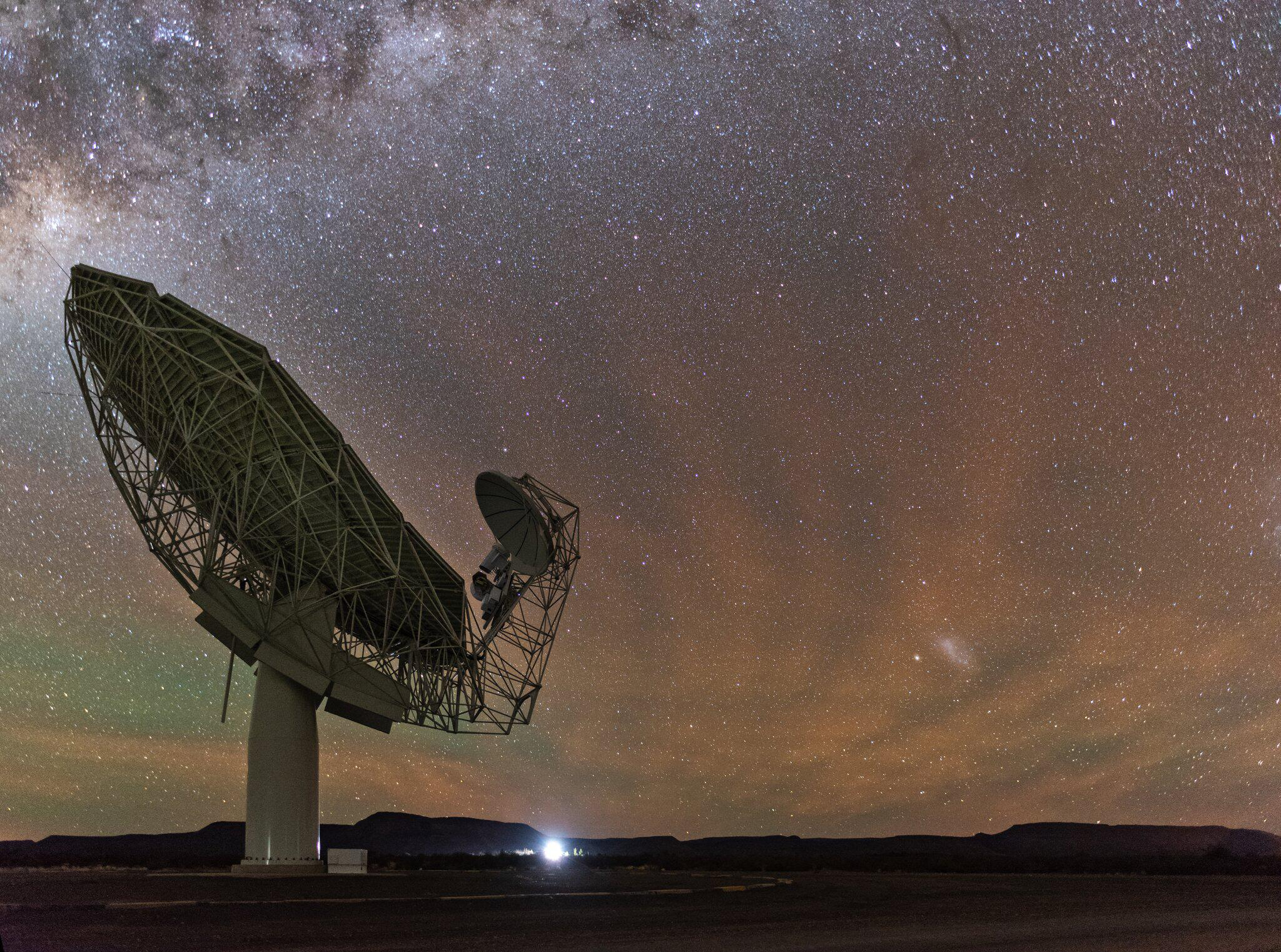 Bild zu Meerkat-Radioteleskop
