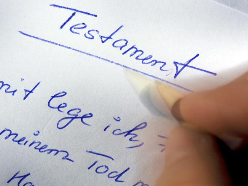 Bild zu Handschriftliches Testament