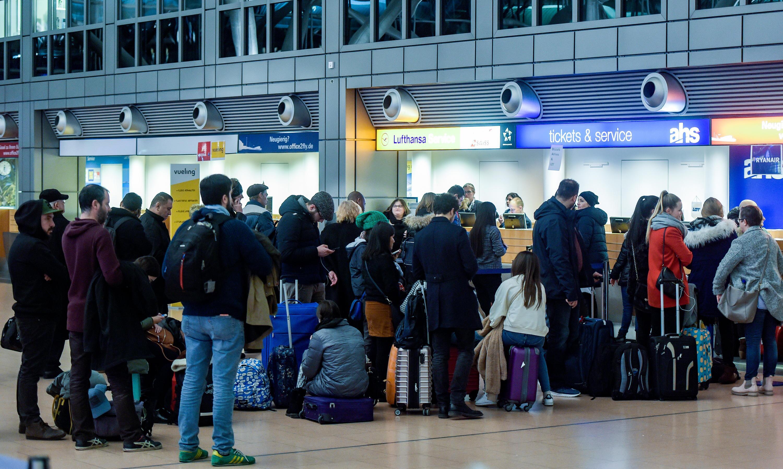 Bild zu Streik, Flughafen, Düsseldorf, Hannover