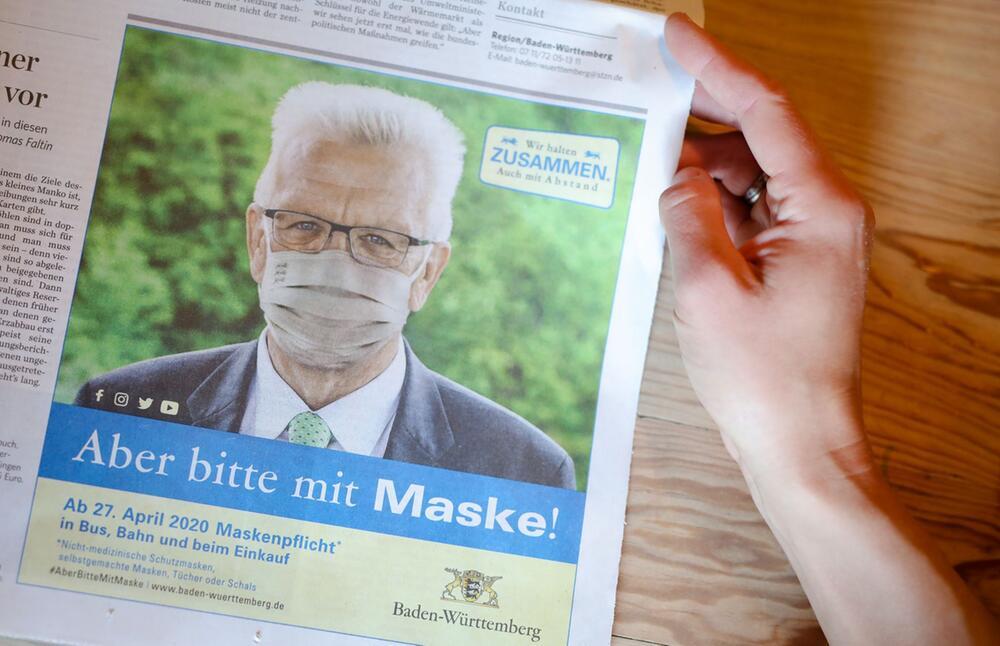 Zeitungsanzeige der Landesregierung