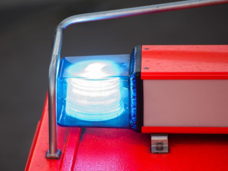Bild zu Das Blaulicht einer Feuerwehr