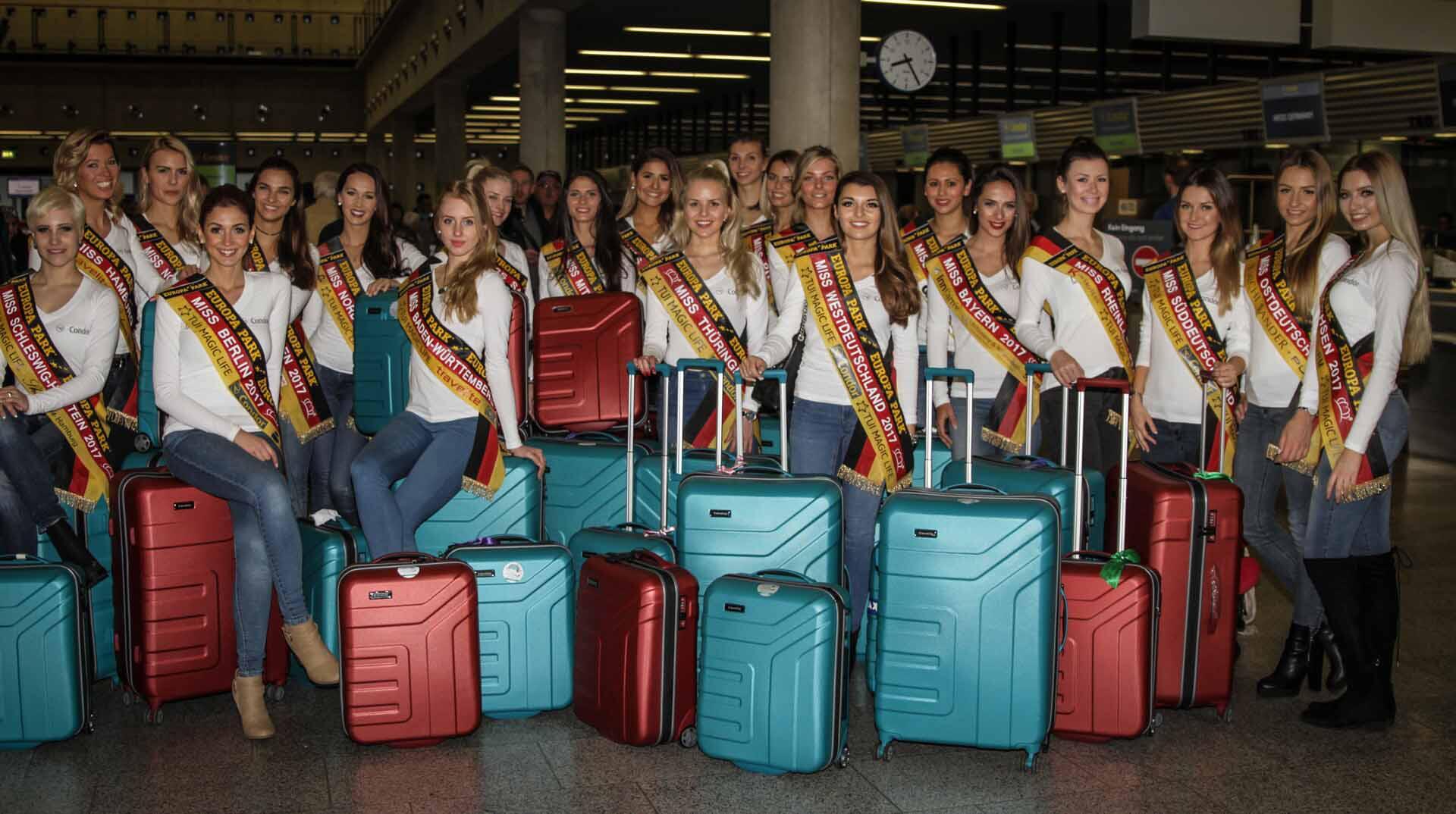Bild zu Missen am Flughafen Miss Germany 2017