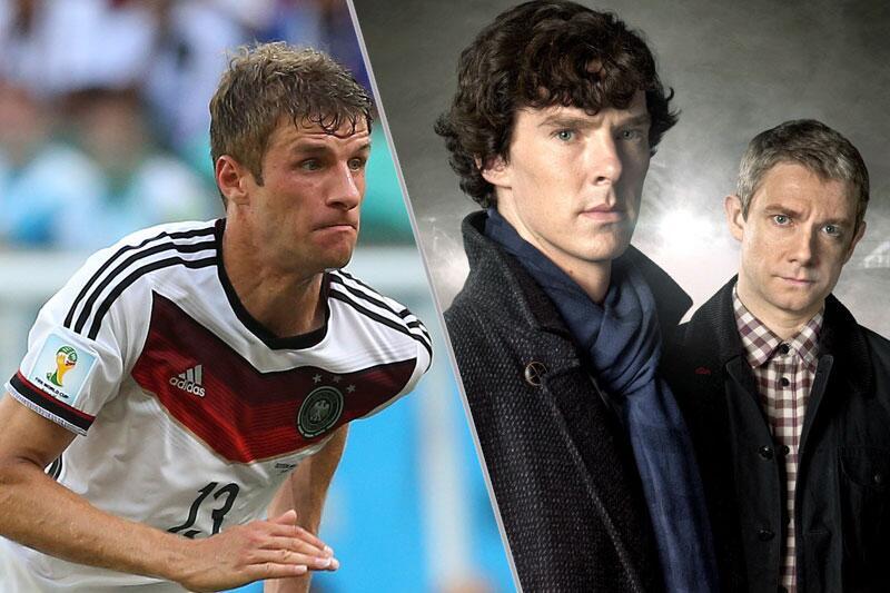 Thomas Müller und Sherlock