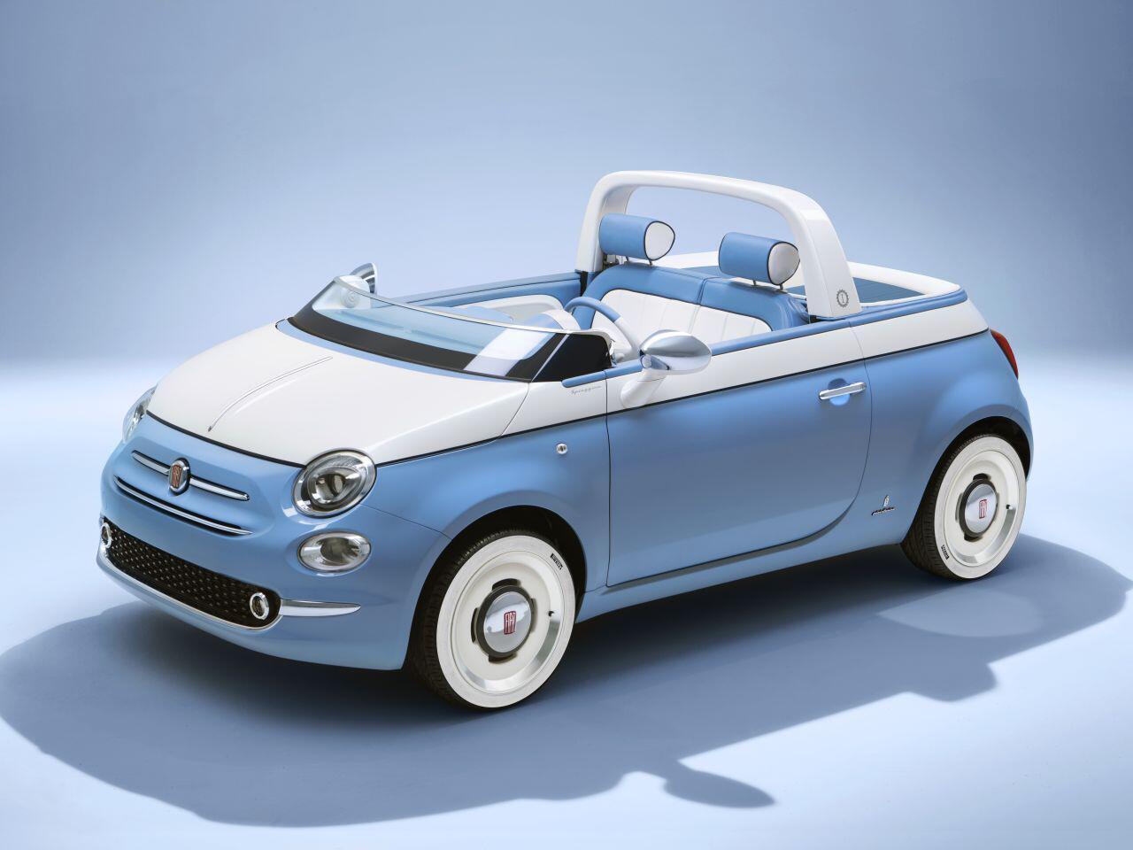 Bild zu Fiat 500 Jubiläum: Sondermodell Fiat 500 Spiaggina '58 und ein Showcar