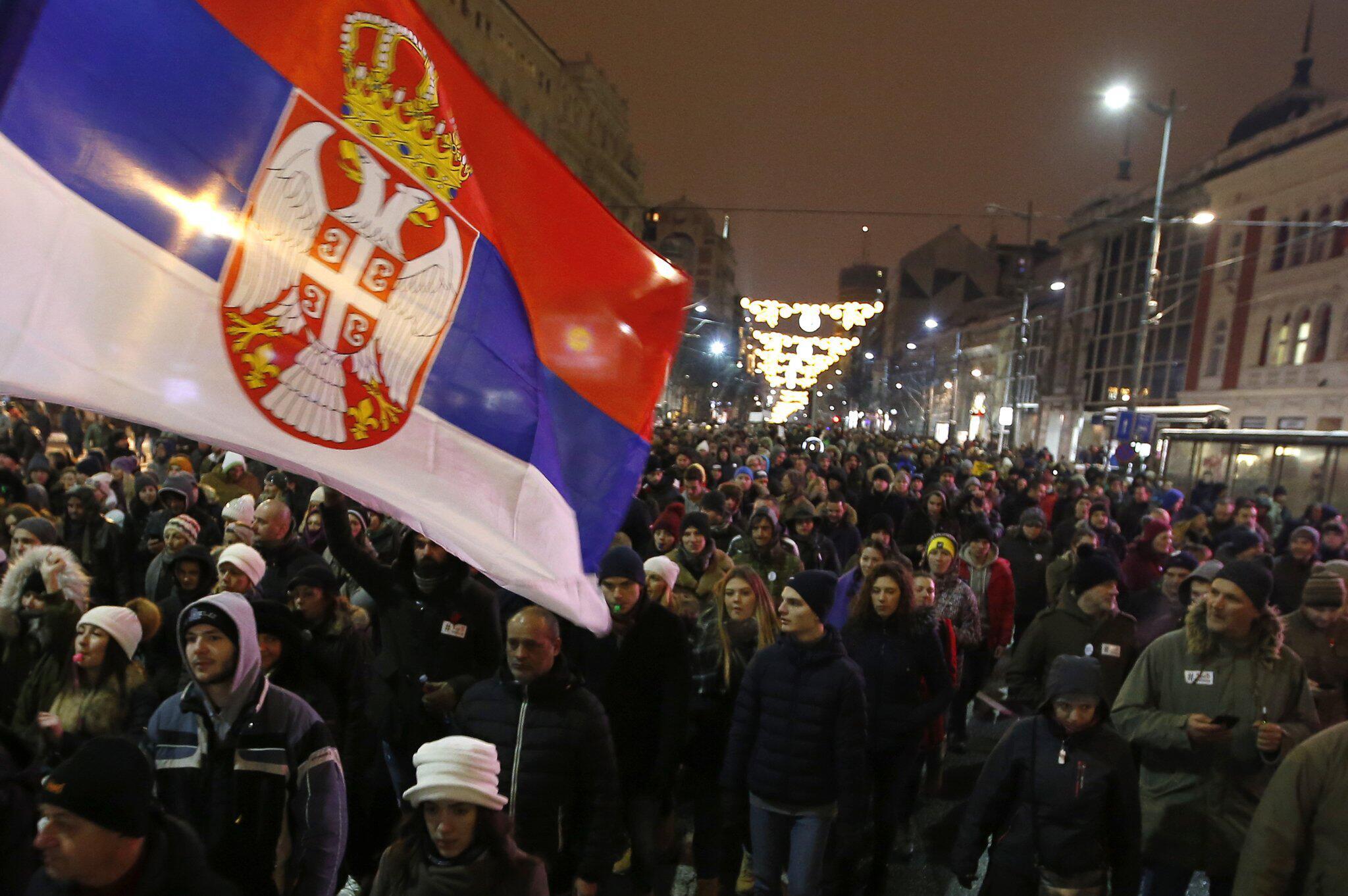 Bild zu Demonstration in Serbien