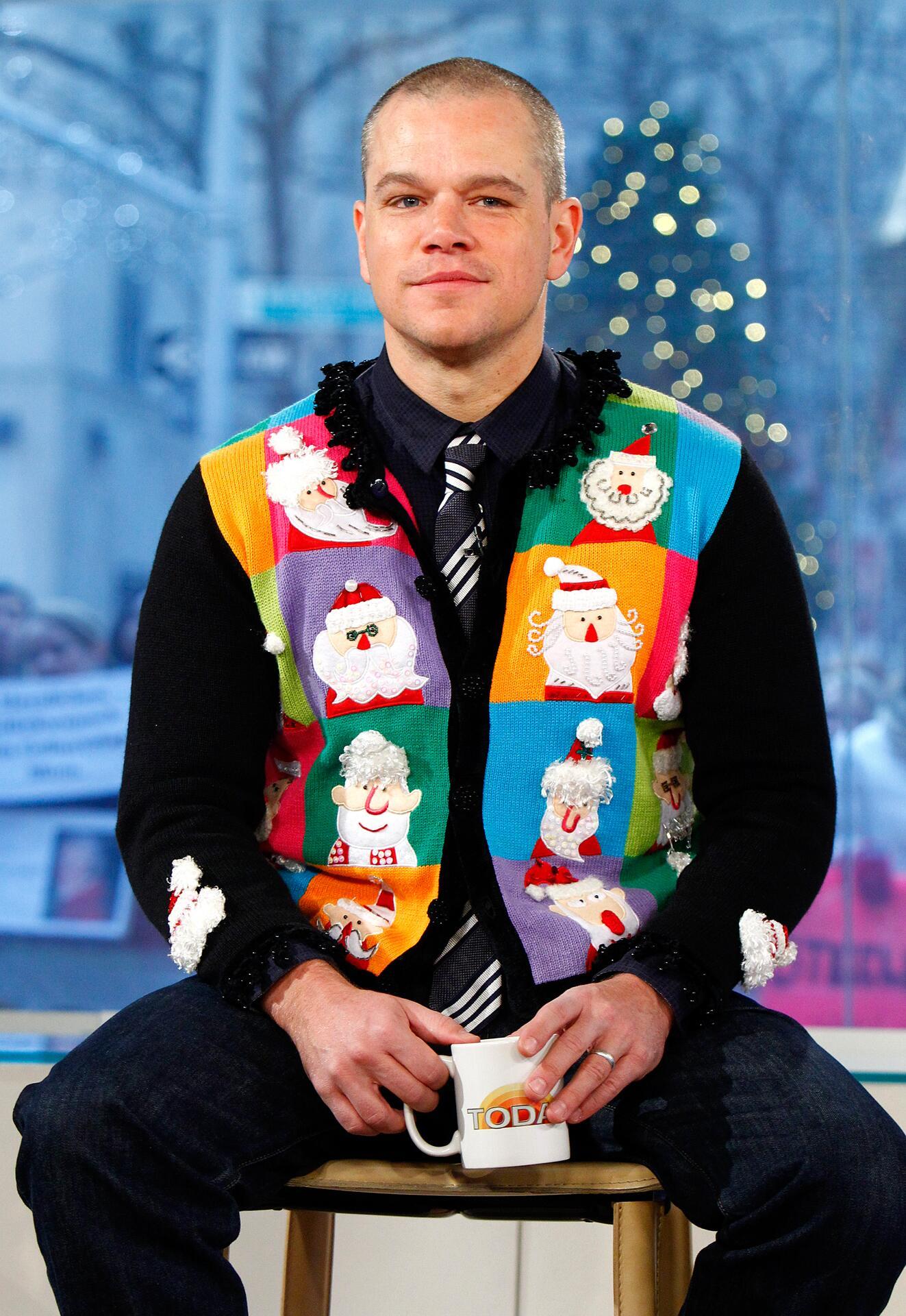 Bild zu Matt Damon, Weihnachten, Ugly Sweater