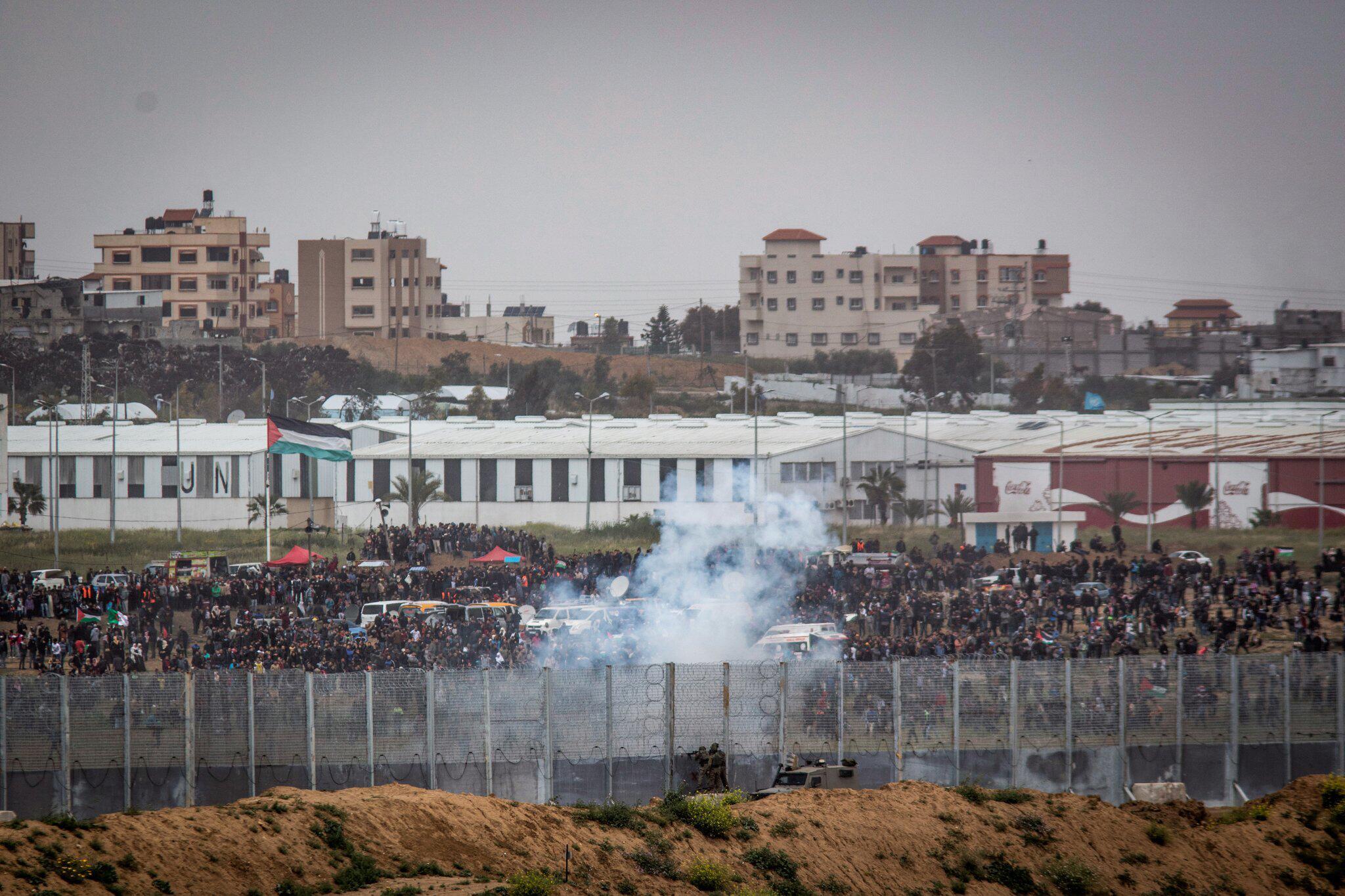 Bild zu «Eine-Million-Marsch» an Gaza-Grenze