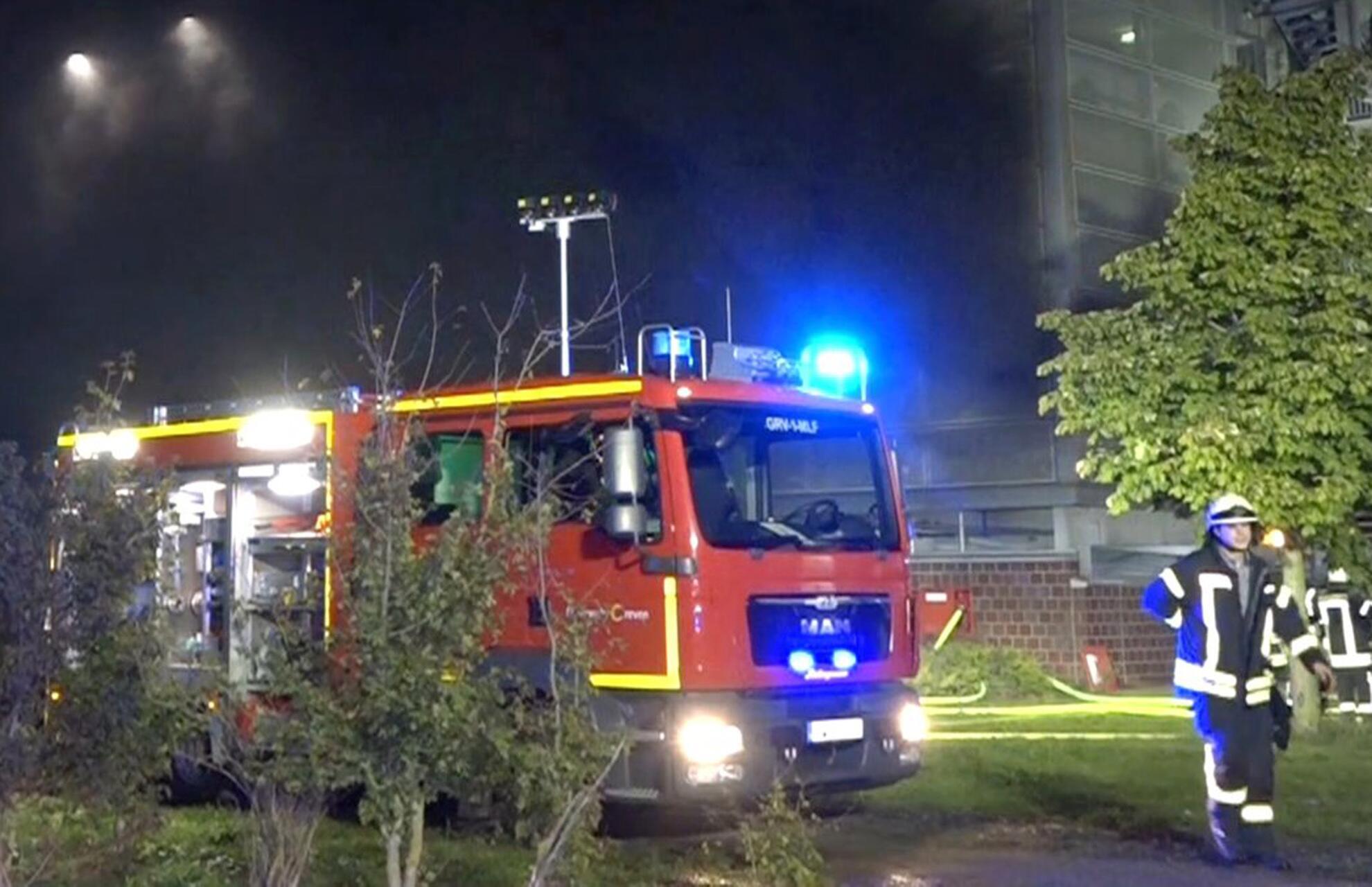 Bild zu Grossbrand am Flughafen Münster Osnabrück