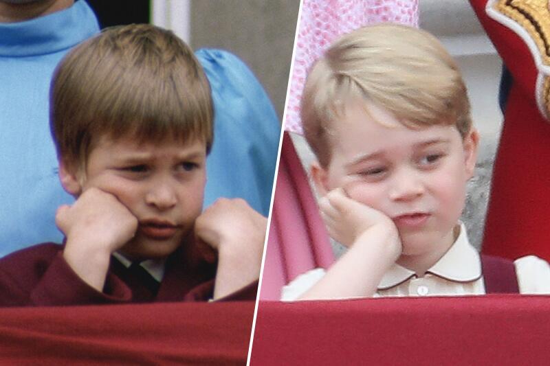 Bild zu Wie der Vater, so der Sohn – Prinz George gelangweilt bei royalem Fest
