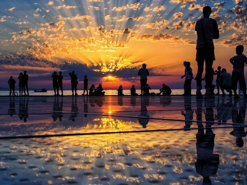 Bild zu Sonnenuntergang in Zadar