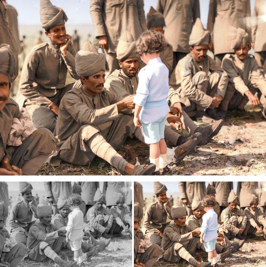 Bild zu Soldaten, Indien, Junge, 1914