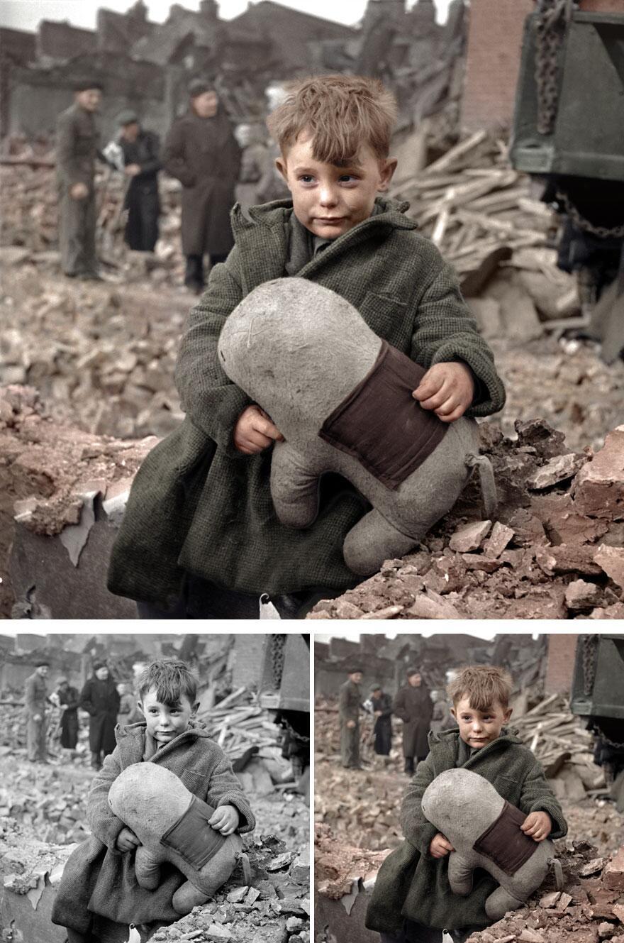 Bild zu Junge, 2. Weltkrieg, Stofftir