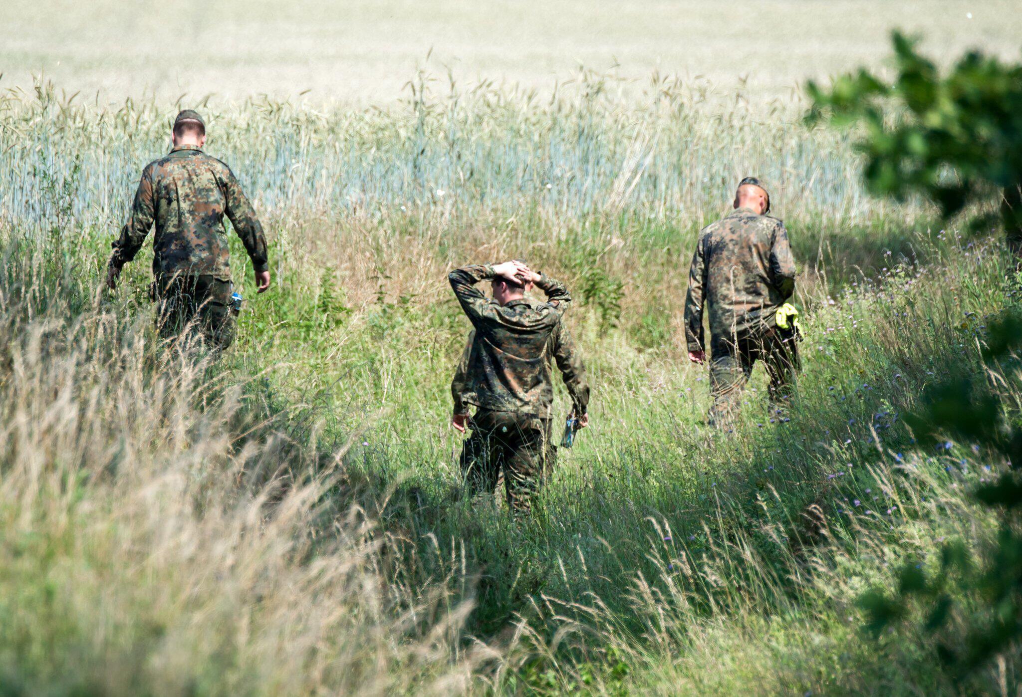 Bild zu Nach Absturz zweier Eurofighter in Mecklenburg-Vorpommern