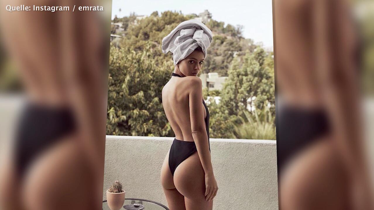 Bild zu Emily Ratajkowski postet ihre sexy Rückansicht