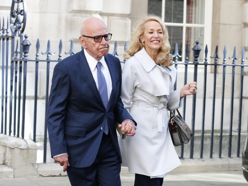 Bild zu Rupert Murdoch and Jerry Hall wedding