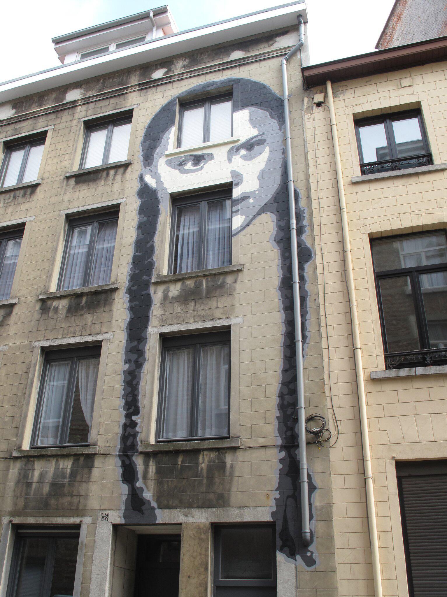 Bild zu Greta Thunberg Graffiti in Brussels