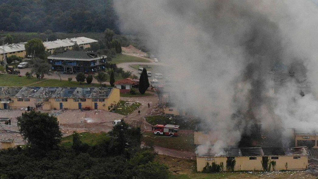 Bild zu Explosionen in einer Feuerwerksfabrik in der Türkei