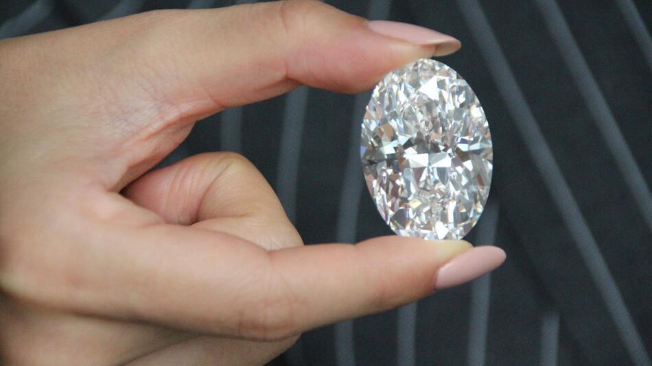 Wertvoller Diamant aus Kanada soll in Hongkong versteigert werde
