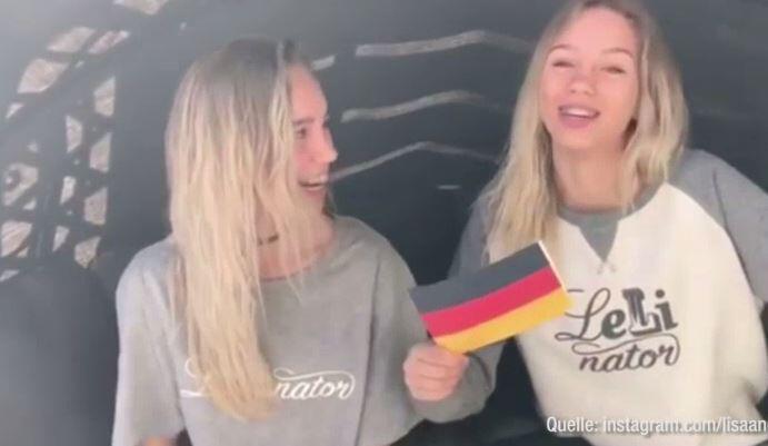 Bild zu Lisa und Lena feiern 10 Mio Follower