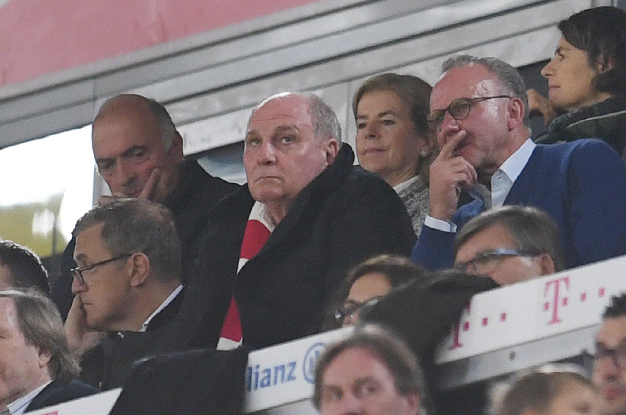 Bild zu Bundesliga, Bayern München - Borussia Mönchengladbach, Uli Hoeness, Karl-Heinz Rummenigge
