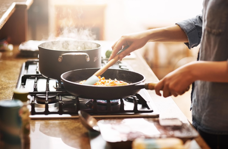 Bild zu Küche, Pfannen, Induktion, Set, Keramik, Gusseisen, Edeltstahl, beschichtet, unbeschichtet