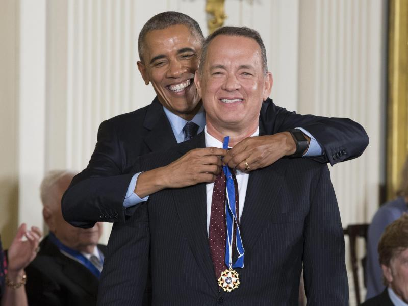 Bild zu Barack Obama & Tom Hanks