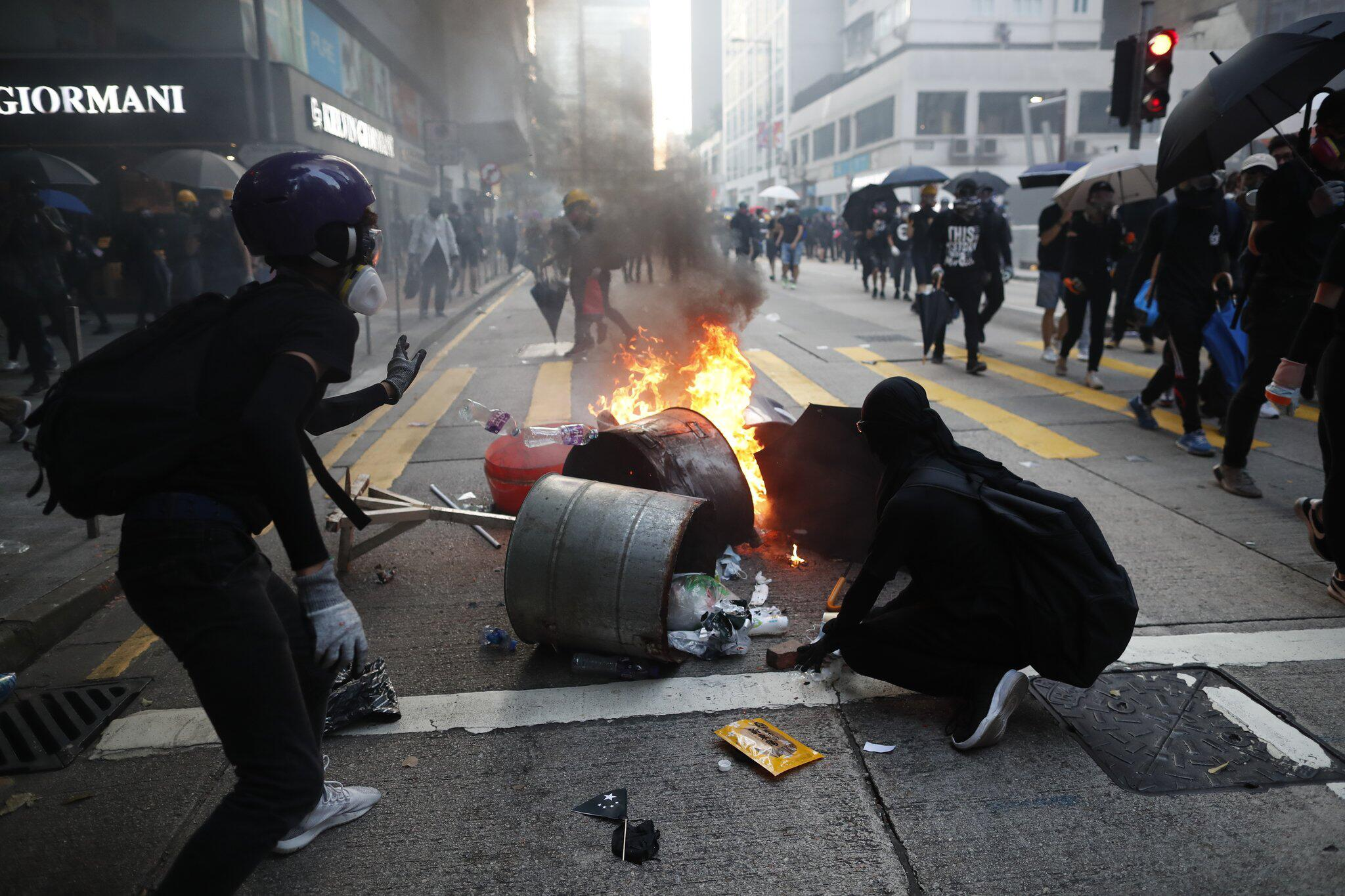 Bild zu Proteste in Hongkong - 70. Jahrestag der Gründung Chinas