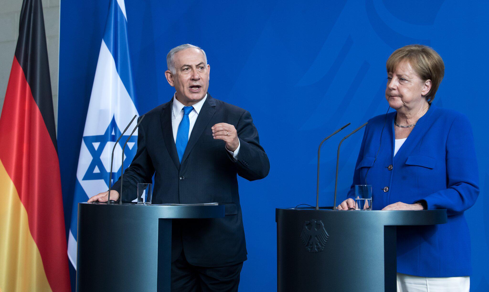 Bild zu Israels Ministerpräsident Netanjahu bei Kanzlerin Merkel