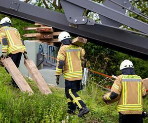 Ein Toter bei Brückenbauarbeiten bei Hannover