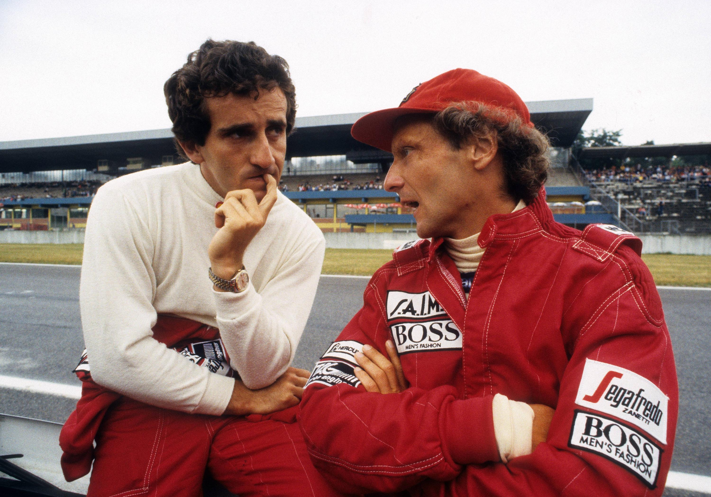 Bild zu Alain Prost, Niki Lauda, Formel 1, 1984