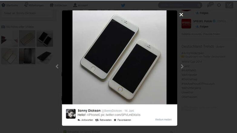 Verschiedene iPhone 6 Grössen